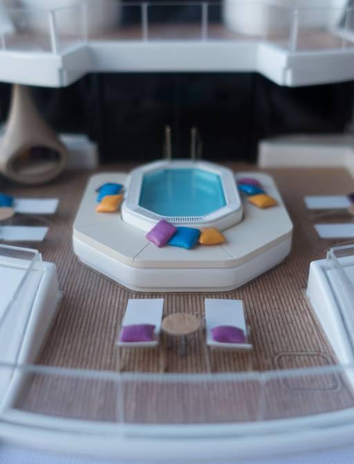 artefact luxury yacht model of pool areas