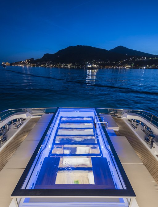 pool on board superyacht lady lena