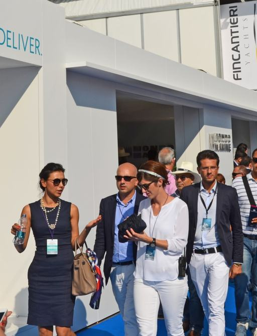 Brokers and clients at the Monaco Yacht Show 2014