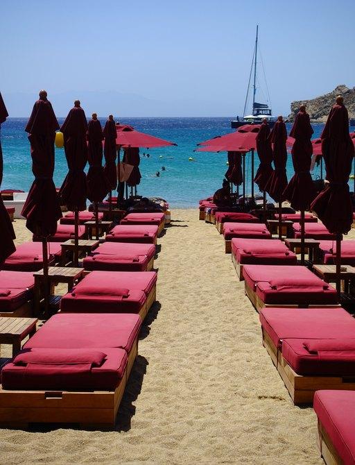 Cabanas on super paradise beach