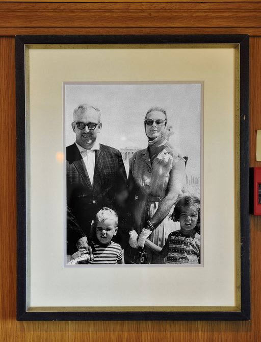 Grace Kelly and family onboard MY Christina O