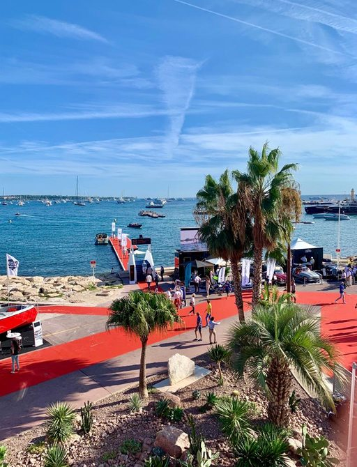 View over sea at Cannes Yachting Festival 2019