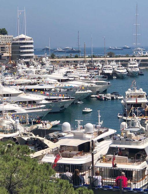 Tenders dropping guests off in Port Hercules, Monaco