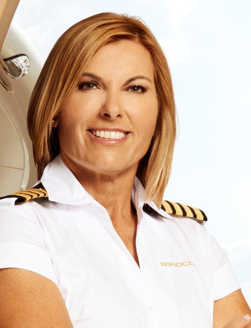 Below deck Med captain Sandy in uniform