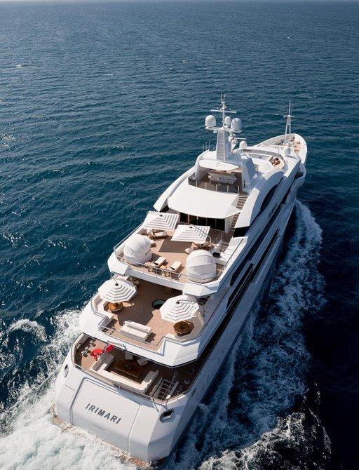 Superyacht Irimari underway in Greek waters