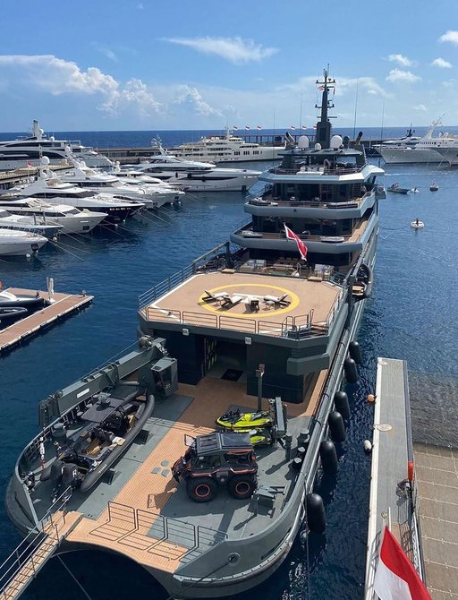 Explorer yacht RAGNAR receives prestigious fire brigade salute at Monaco Yacht Club photo 3
