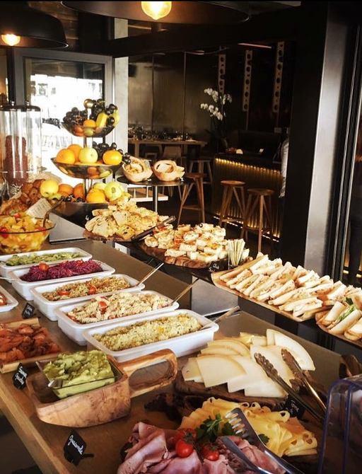 Food display at restaurant Da Passano in Corsica