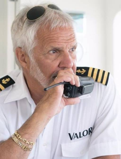 Captain Lee Rosbach from Below Deck on board motor yacht VALOR