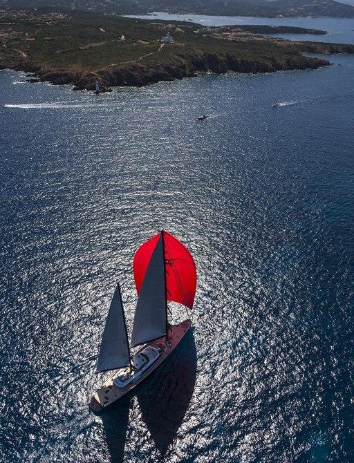 Seahawk approaching island
