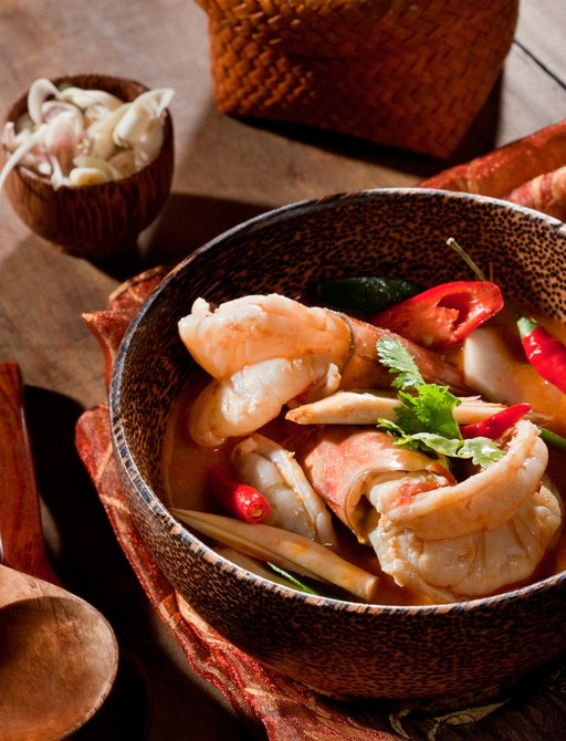 Tom Yum Goog - or shrimp soup - is a popular Thai dish served throughout the country