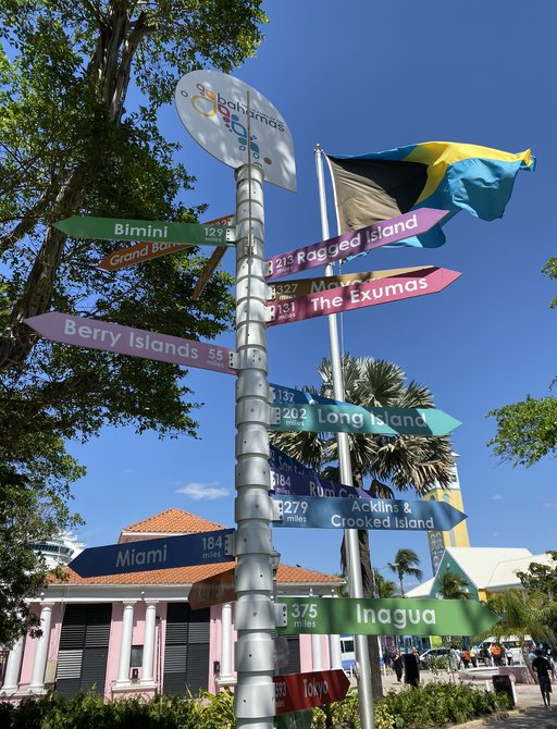 signs point to all the islands of the bahamas