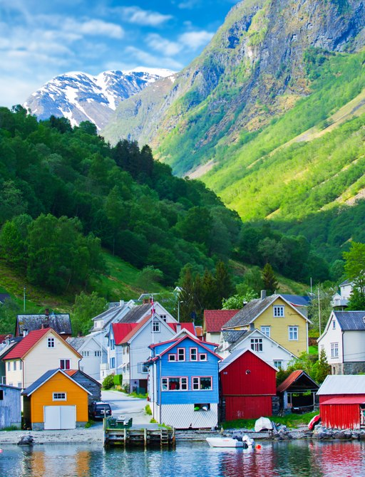 A pretty twon on the coastal fringes of Norway