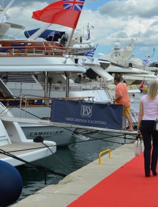 Aris Drivas Yachts on display at MEDYS 2014