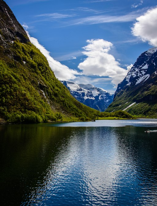 One of the Norwegian fjords popular amongst superyachts