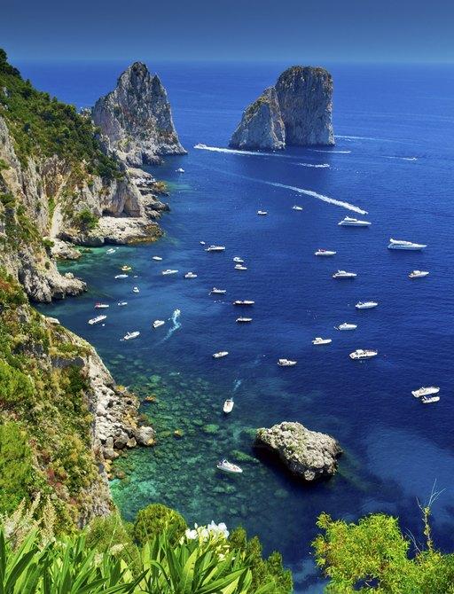 The view from Giardini di Augusto, Capri, Italy