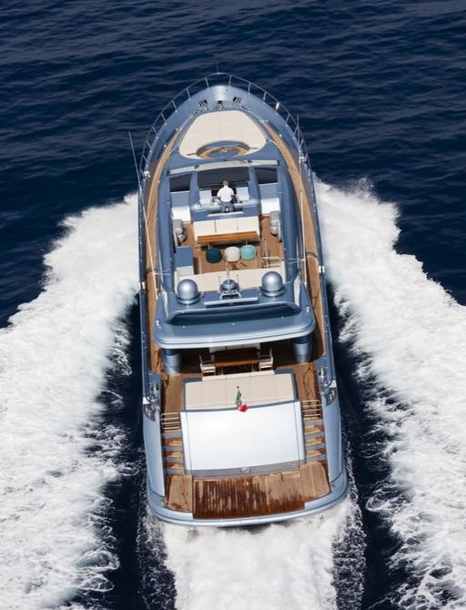 View down onto superyacht 55 FIFTYFIVE