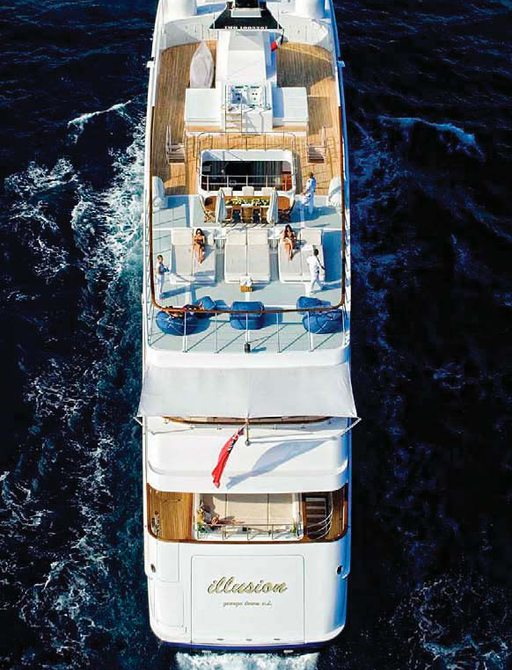 Top view of Illusion I yacht
