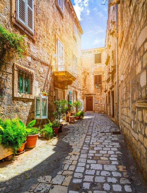 Hvar town on Hvar island in Dalmatia, Croatia
