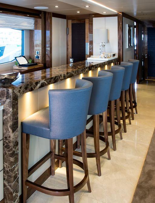 sleek bar aboard luxury yacht Princess AVK