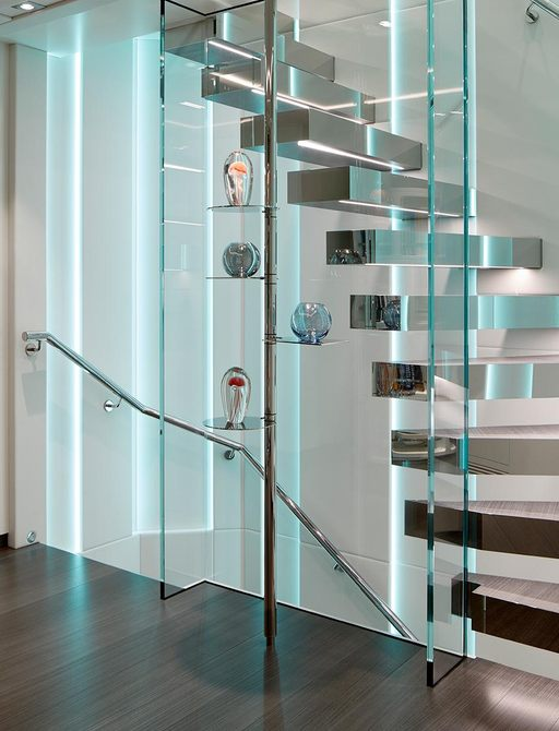 The glamorous stairwell or charter yeacht HOME