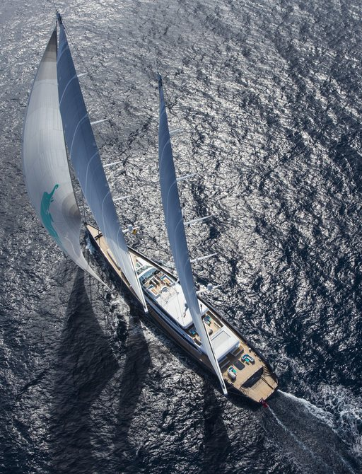 sailing yacht AQUIJO underway on a luxury yacht charter