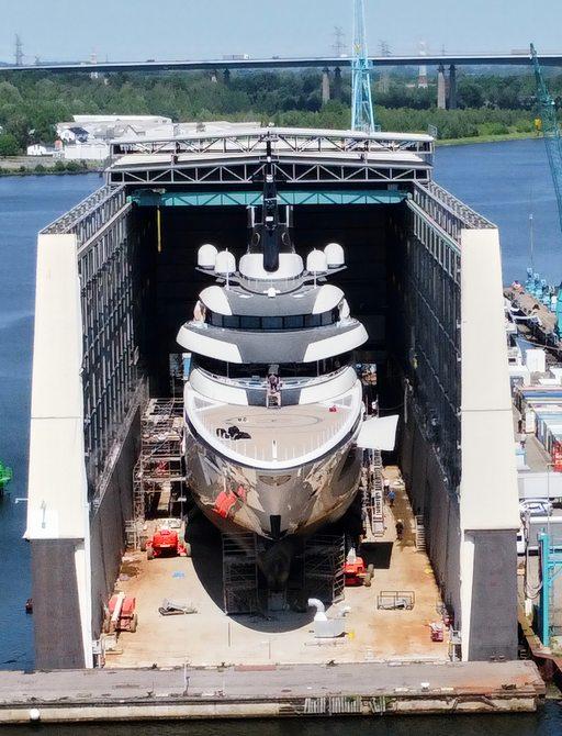 Exclusive: Launch of new Lürssen 115m superyacht 'Project ENZO' photo 2