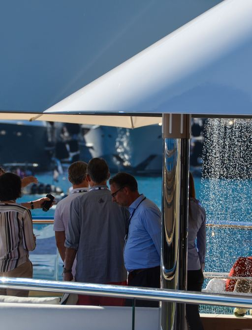 Visitors admiring DAR's waterfall feature at MYS 2018