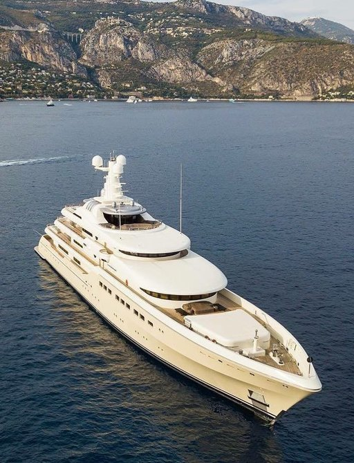 superyacht GRACE anchored on a luxury yacht charter