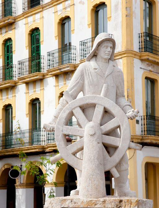 Eivissa ibiza town statue dedicated to all sailor and sea people