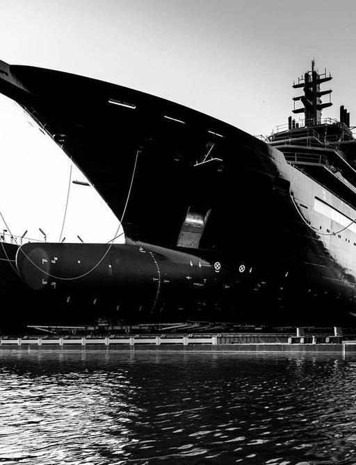 Luxury yacht REV ahead of launch