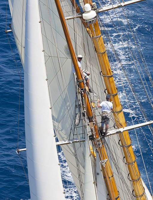 crew at work while participating in the Superyacht Cup Palma