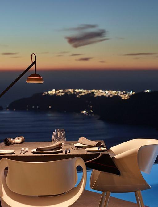 View of FlyAway creative in Santorini