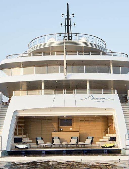 Beach club onboard yacht dream