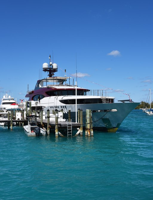 amarula sun yacht berthed at bay street during bahamas charter show