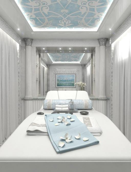 Massage room onboard MY Elements