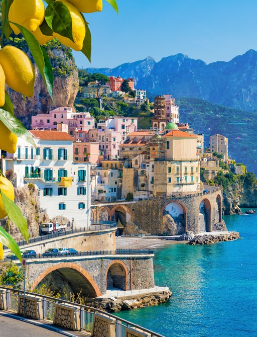 Small town of Atrani on the Amalfi Coast in Italy