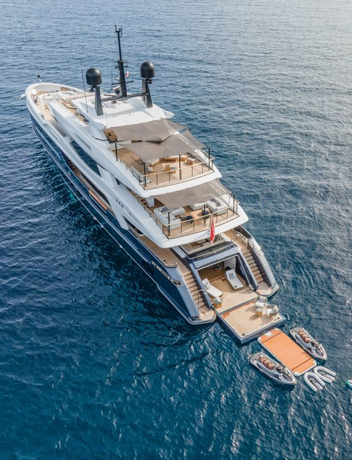 View of superyacht SEVERIN'S from above
