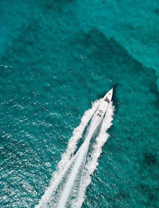 Yacht cruising along Bahamas waters