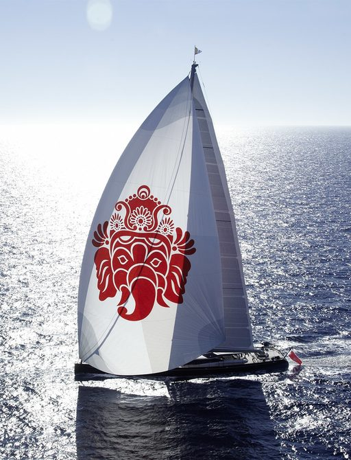 sailing yacht GANESHA gets underway on a charter vacation