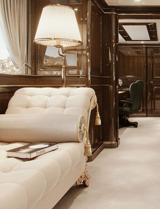 lady lena superyacht guest cabin