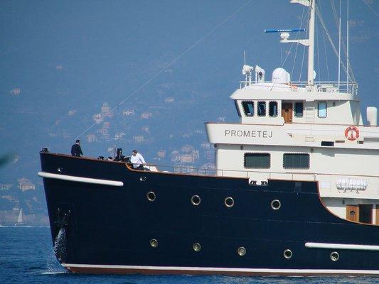 Prometej Yacht Bow