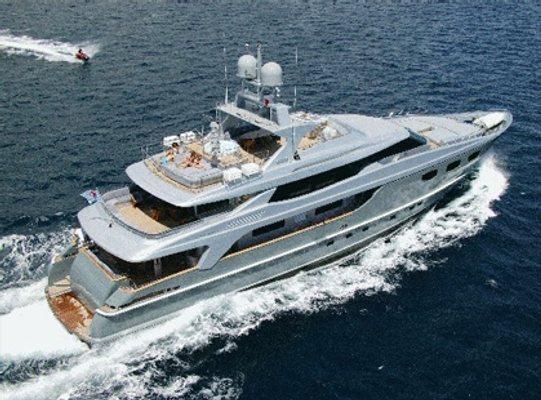 Annamia Yacht Running Shot - Aerial