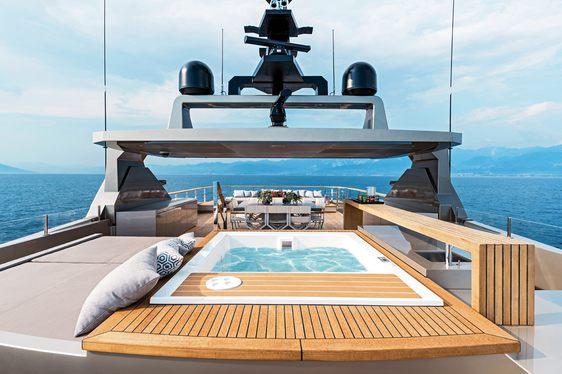 pool on board luxury yacht giraud's sundeck