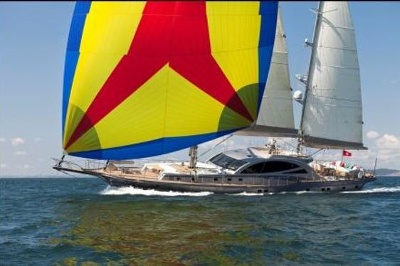 Charter yacht Merlin sailing in the Mediterranean