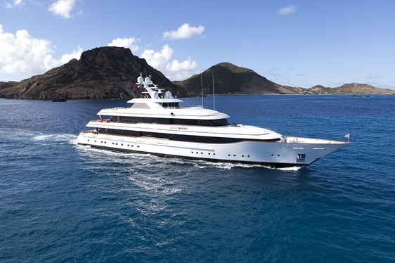 Super yacht Lady Britt cruising in the Bahamas on charter