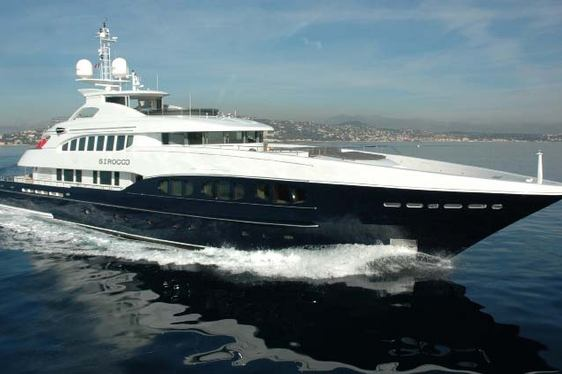 Luxury charter yacht Sirocco cruising in the West Mediterranean