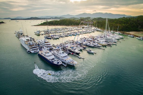 yachts gather in Royal Phuket Marina for the Thailand Yacht Show & Rendezvous