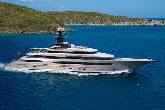 superyacht KISMET cruising on a Caribbean yacht charter