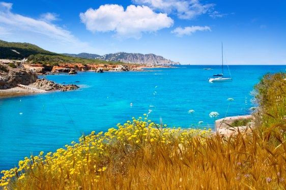Ibiza beach yacht