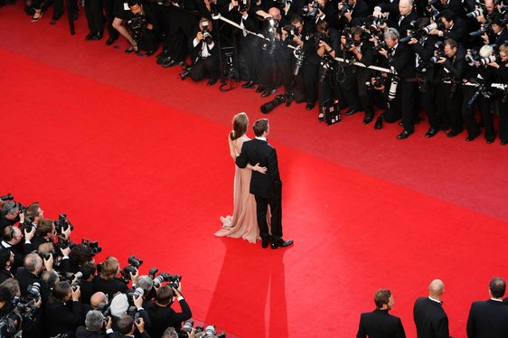 Brad Pitt and Angelina Jolie on the red carpet at the Cannes Film Festival